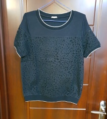 Crna čipkasta majica NOVA INTIMISSIMI