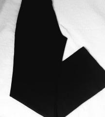 Yessica zift crne poslovne siroke pantalone
