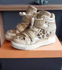 Decije zlatne kozne patike - leopard print