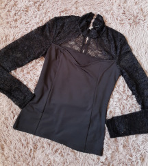 Amisu elegantna bluza sa Čipkom s