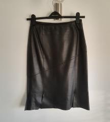 KOŽNA suknja sa prorezima