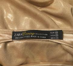 ZARA zlatna haljina