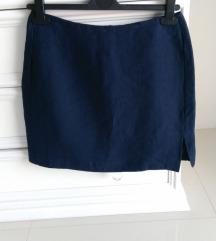 Teget lanena suknja Made in Italy S