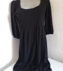 Crna balon dekoltovana haljina S/M