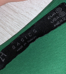 ZARA basics zelena majica na bretele