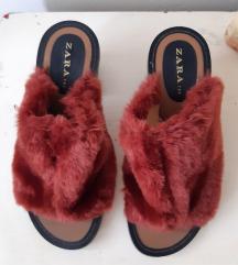 ZARA papuce krznene br.37