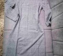 Karirana deblja haljina