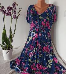Viskozna cvetna haljina vel 46