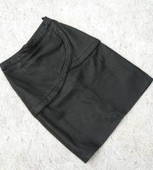 Crna kozna suknja (prava koza)