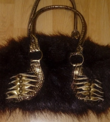 Braon cupava torbica
