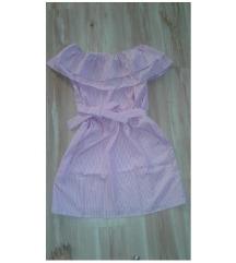 Nova roza prugama haljina L vel
