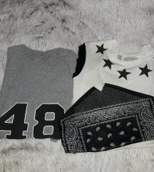 Dve oversize majice S / M