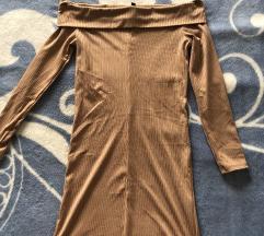 H&m haljina rebrast materijal