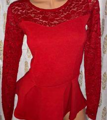 Crvena svecana peplum majca