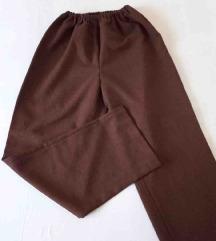 Braon pantalone na elastiku XXL