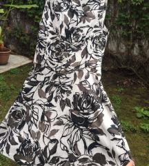 SNIZENOZARA crnobela cvetna haljina