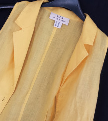 UN DEUX TROIS ❁ sunčano žuta lanena košuljica