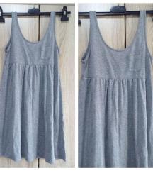 Siva pamucna haljina h&m