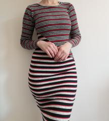 C&A uska pencil haljina na pruge vel S/M
