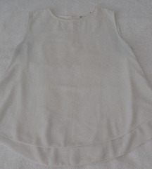 Bela slojevita bluza/kosuljica bez rukava