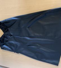 Kožna crna haljina