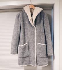 Zara teddy sivi kaput