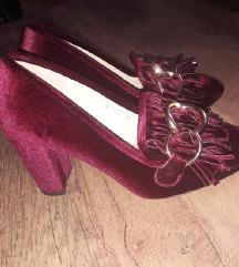 Bordo plišane cipele