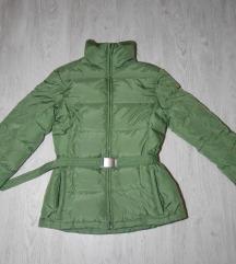 Predivna zelena BENETTON perjana jakna S/M