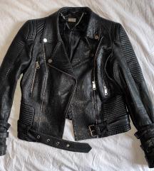 MONA crna kozna jakna