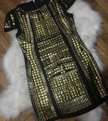 Crno zlatna haljinica