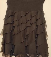 Crna suknja sa karnerima