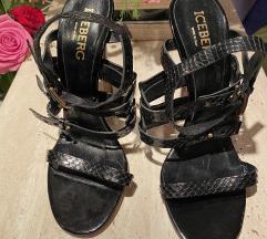 ICEBERG NOVE crne sandale sa podesavanjem 37.5