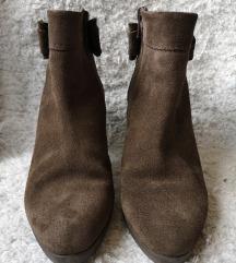 Braon kratke cizme/gleznjace