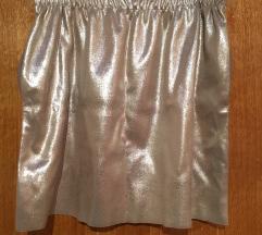 Zara metalik suknja