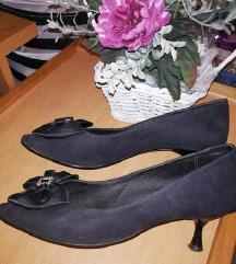 Cipele crne kožne