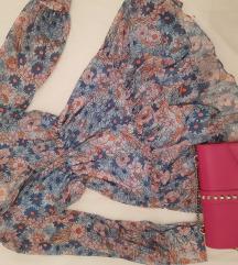 Plava cvetna haljina snizeanaa
