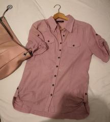 Ženska puder roze košulja, M,očuvano
