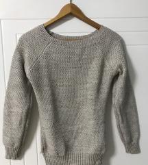 Bež sivkasti svetlucavi džemper