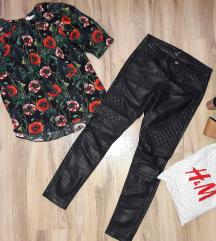 H&M kozne pantalone NOVO