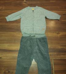 Zara sive pantalone i sivi dzemper 68 za bebe