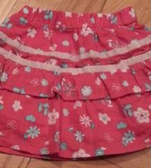 JSP CVETNA suknjica prelepa za devojcice 6-12 mes