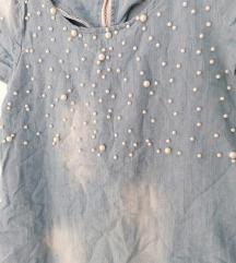 Teksas haljina sa biserima