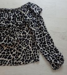 Nova off shoulder bluza leopard print 500din