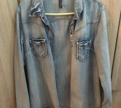 Fishbone teksas košulja jakna, 2x obučena