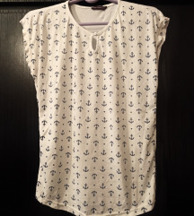 Bela majica sa sidrima