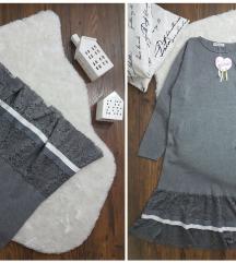 Italy * pletena haljina sa cipkom NOVO