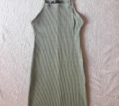 Bershka maslinasta  haljina NOVO