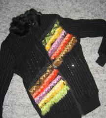 Džemper sa krznom, nenošen