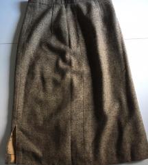 Zimska suknja drap/bež boje