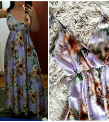 Predivna duga haljina od satena